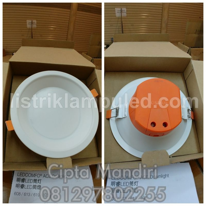 Lampu Downlight Panel Led Osram Ledcomfo 13watt 4000k(Semu)